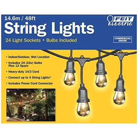 feit electric 48ft / 14 6m outdoor string lights(48 feet)