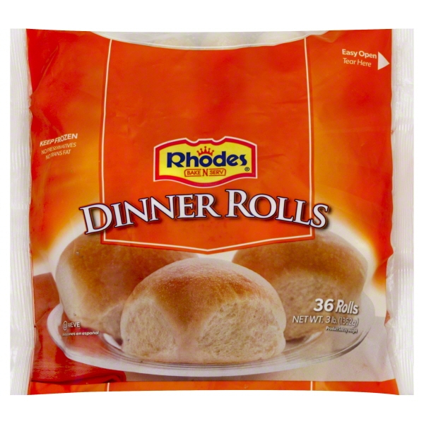 Rhodes Bake N Serv Yeast Dinner Rolls 36 Ct Bag Walmart Com