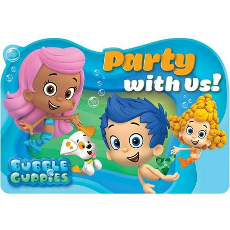 bubble guppies invitations 8pk