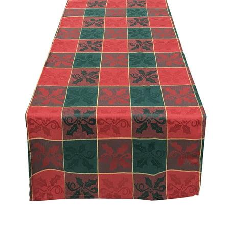 fennco styles royal de noel collection plaid design table. Black Bedroom Furniture Sets. Home Design Ideas