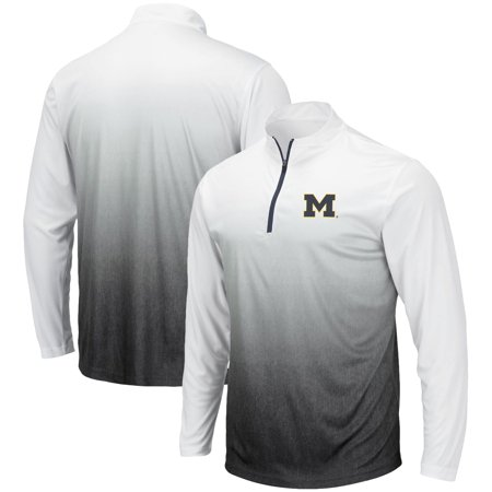 Michigan Wolverines Colosseum Magic Quarter-Zip Jacket - Gray