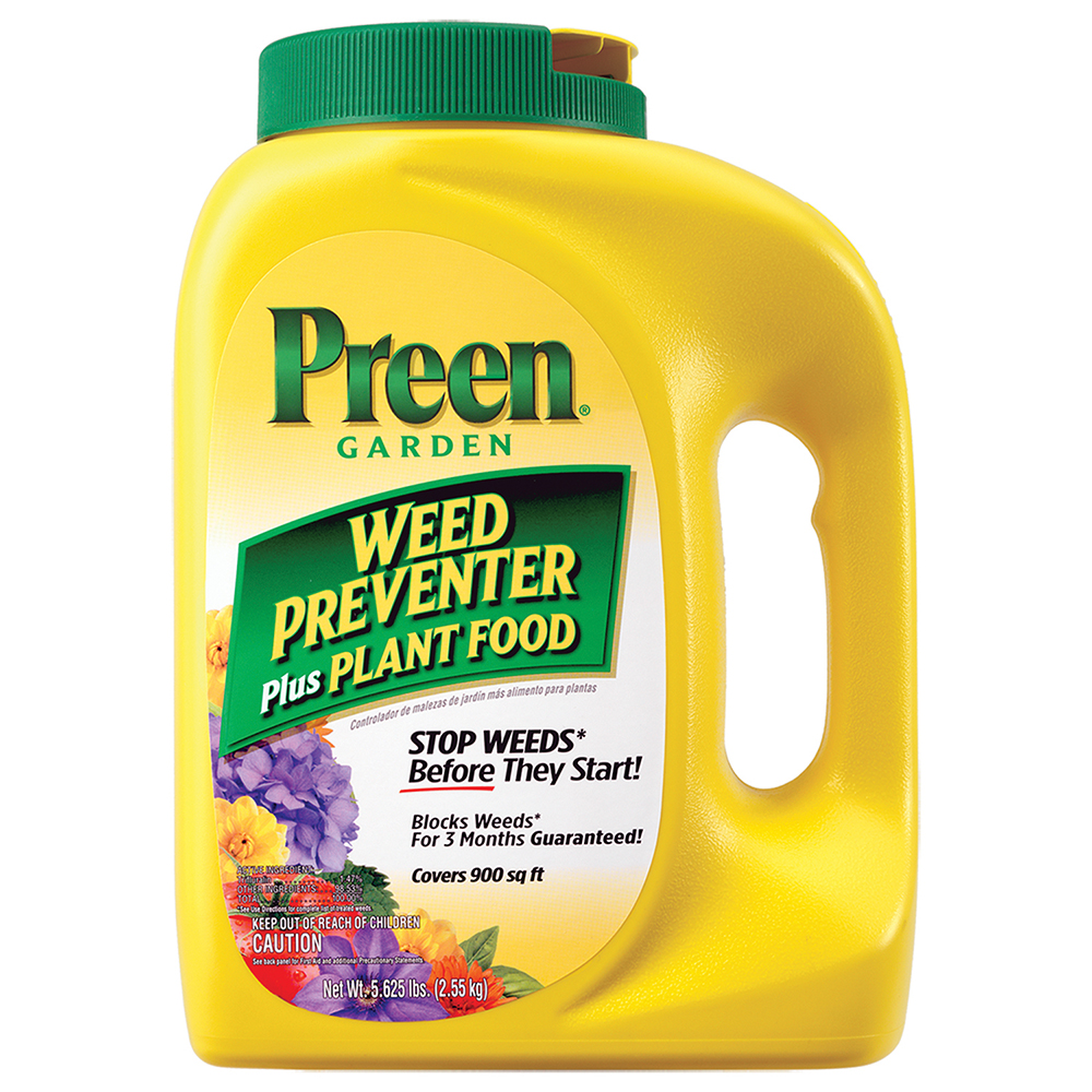 PREEN Garden Weed Preventer Plus Plant Food, 5.625LB Covers 900 sq. ft