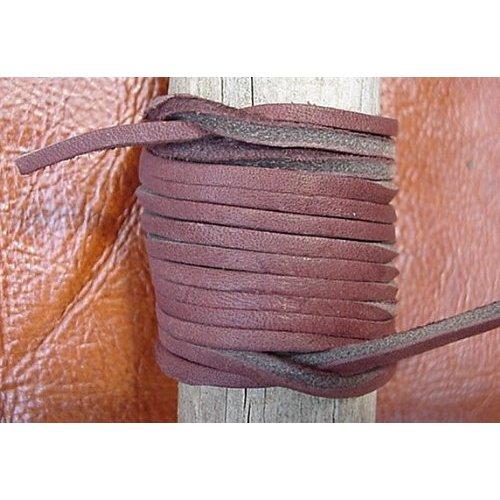 Lace Lacing Leather Topgrain Latigo Chocolate Brown 12 Feet 2 Pieces