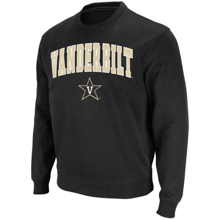 Vanderbilt Commodores Stadium Athletic Arch & Logo Crew Pullover Sweatshirt - Black - 2XL