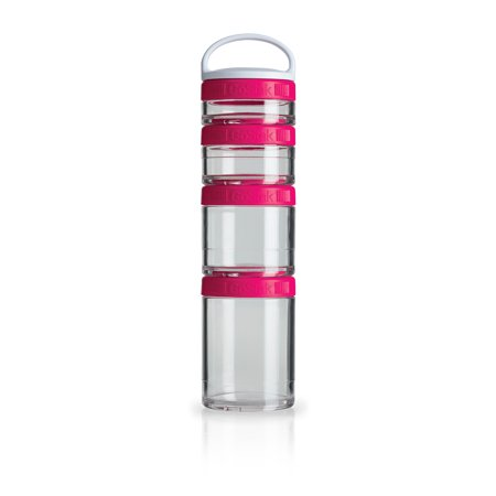 BlenderBottle GoStak Snacking Mini Containers Starter 4pk, Pink