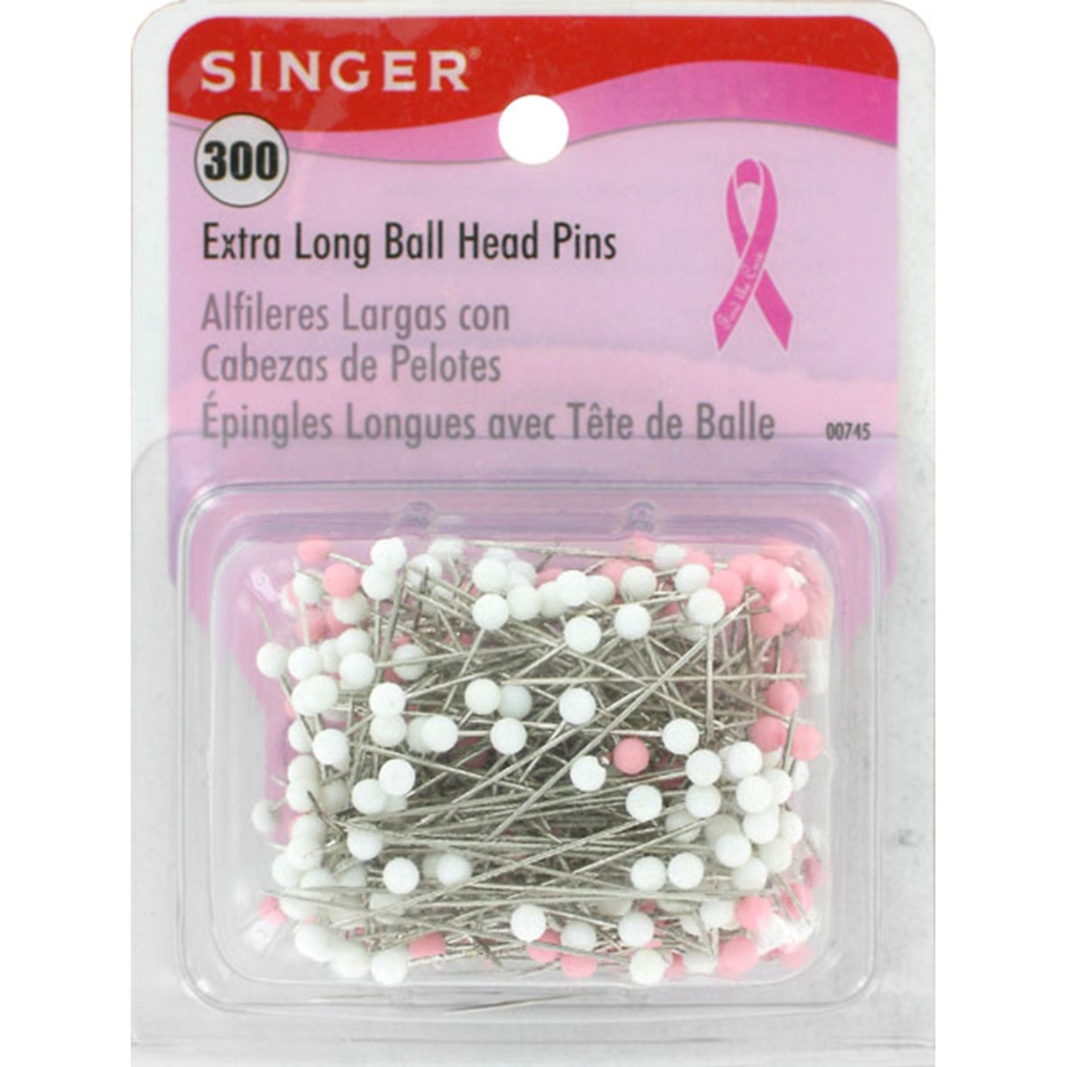 Extra Long Ball Head Pins-Size 28 300/Pkg