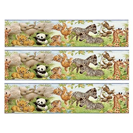 Baby shower Jungle Animals Designer Strips Edible Cake Side Toppers (3 Strips)](Jungle Theme Baby Shower Cake)