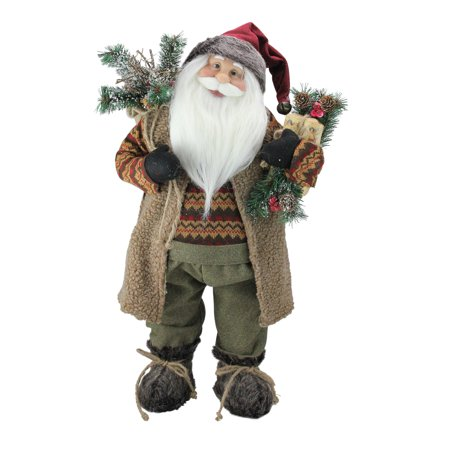 24 Country Rustic Standing Santa Claus Christmas Figure Walmart Canada