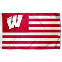 Wisconsin Badgers American Flag Design 3' x 5' Flag