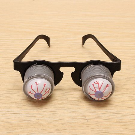 2 Packs Halloween Horror Plastic Joke Shock Pop Eyes Eyeball Eyeglass Party Toy