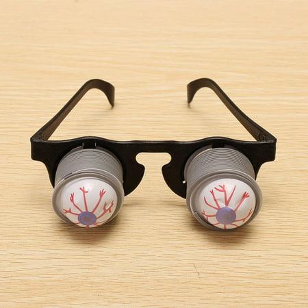 2 Packs Halloween Horror Plastic Joke Shock Pop Eyes Eyeball Eyeglass Party Toy (Halloween Food Brains Eyeballs)