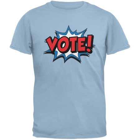 Vote For Pedro Shirt (Election Comic Style VOTE! Light Blue Adult)