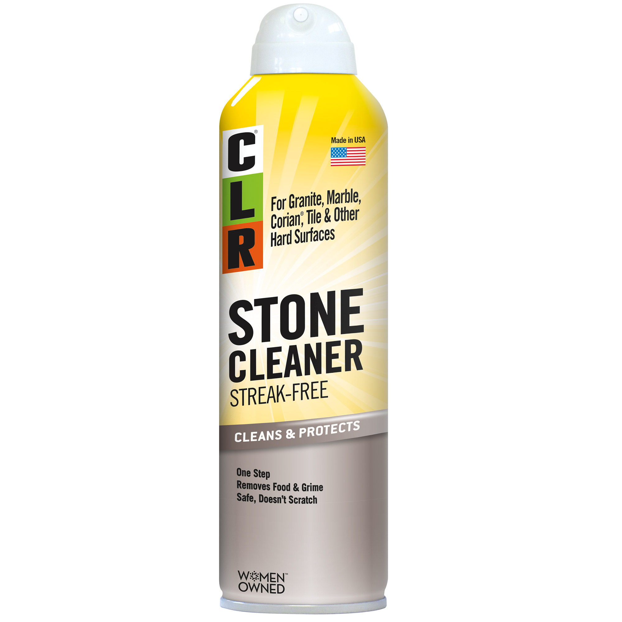 CLR Stone Cleaner, Non-Abrasive, Cleans & Protects, 12 Oz Aerosol Can