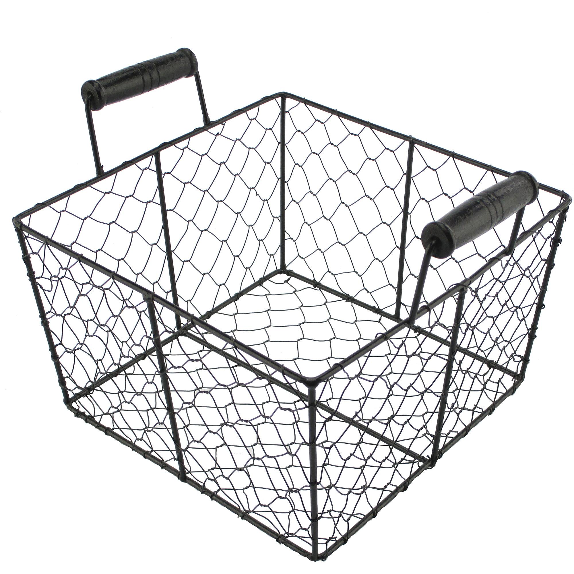Hometrends Metal Basket, Black