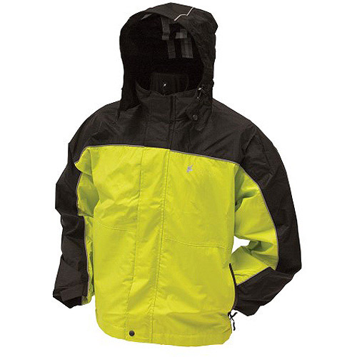 Frogg Toggs Highway Jacket Safety, Green/Black