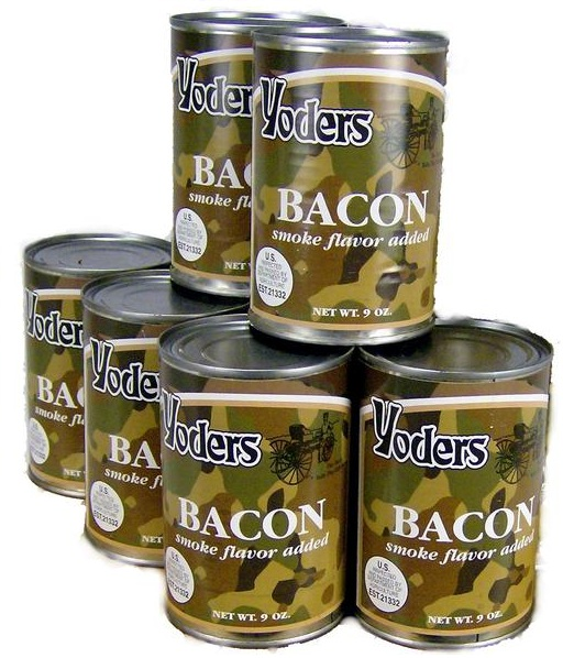 Yoders 6 Can Combo Fully Cooked Bacon, 9 Ounce Each by Yoders
