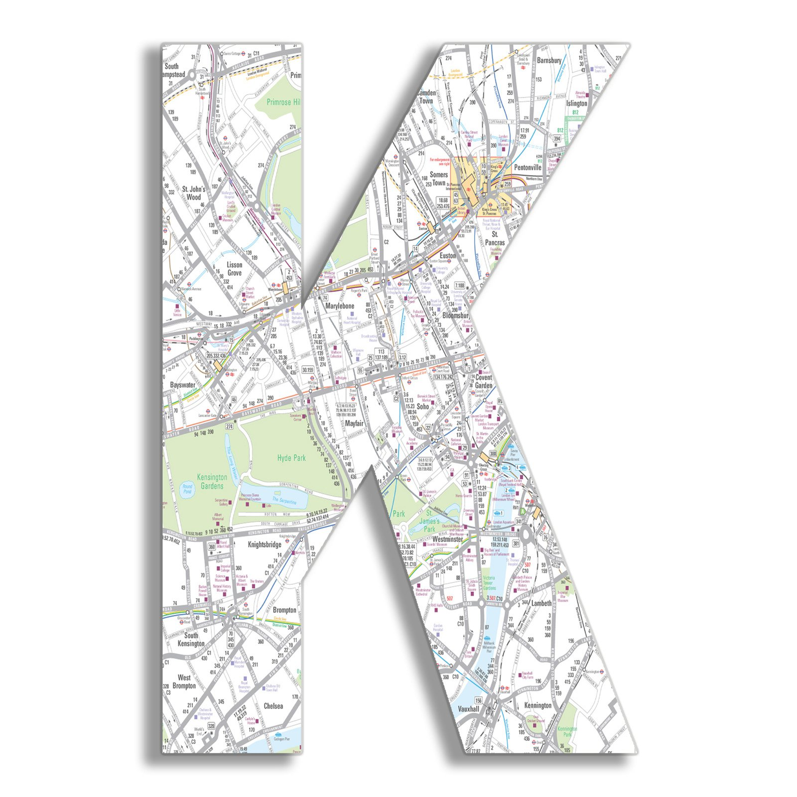 The Stupell Home Decor Collection Stupell Industries Oversized London Map Hanging Initial