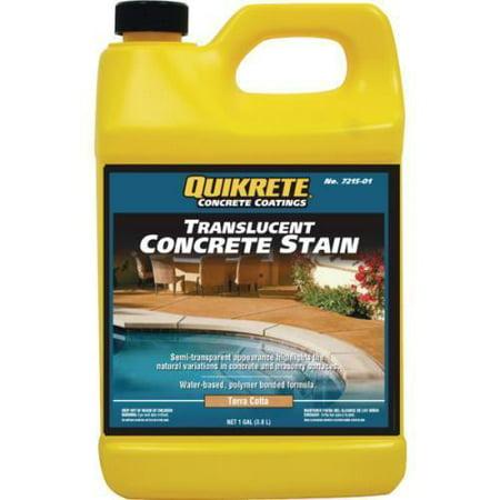 Terra Concrete - 1 Gallon Quikrete Translucent Concrete Stain - Terra Cotta