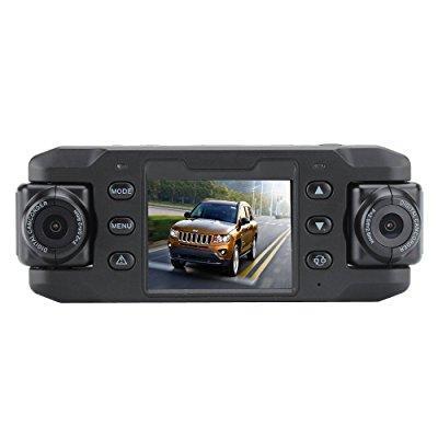 carcam iii car dvr - 2 x 180 degree rotating cameras, 2 i...