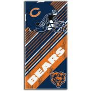 Chicago Bears NFL 28x58 Diagonal Design Cotton Beach Towel