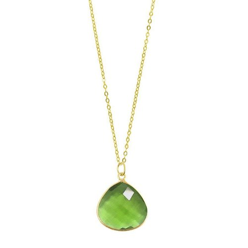 Chayenne Jewelry Medium Teardrop Green Chalcedony Pendant Necklace by Generic