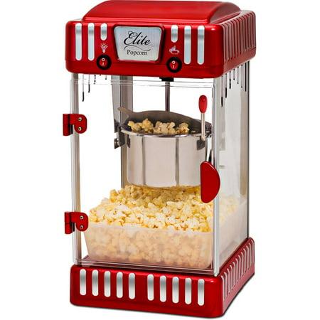 Elite Epm 250 Classic Tabletop 2 5 Oz Kettle Popcorn Maker  Red