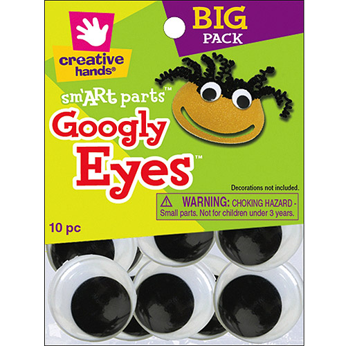 Glue-On Googly Eyes, 40mm, 10pk, Black 8768155E
