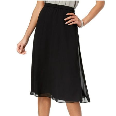 Womens Skirt Medium Petite A-Line Chiffon PM Bodice Chiffon Skirt