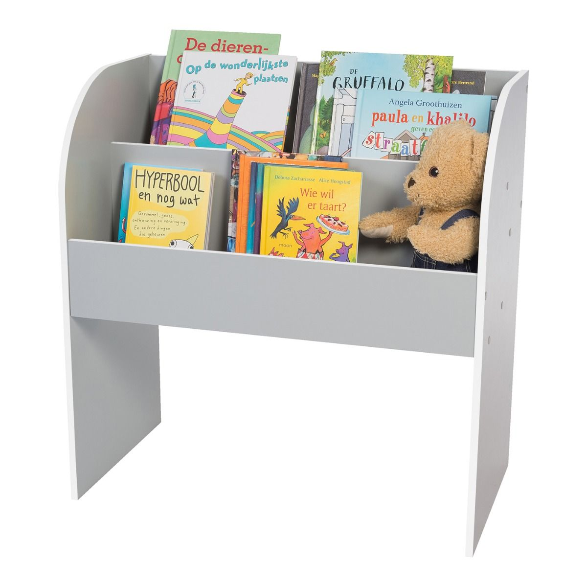 IRIS USA Kid's Wooden Bookshelf, 2 Shelf, Multiple Colors