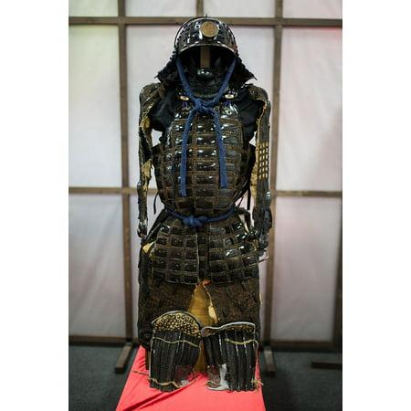 Canvas Print Armor Japan Samurai Helmet Fighter Warrior Stretched Canvas 10 x 14