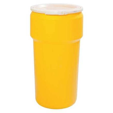 EAGLE 1623 Transport Drum,Open Head,20 gal.,Yellow