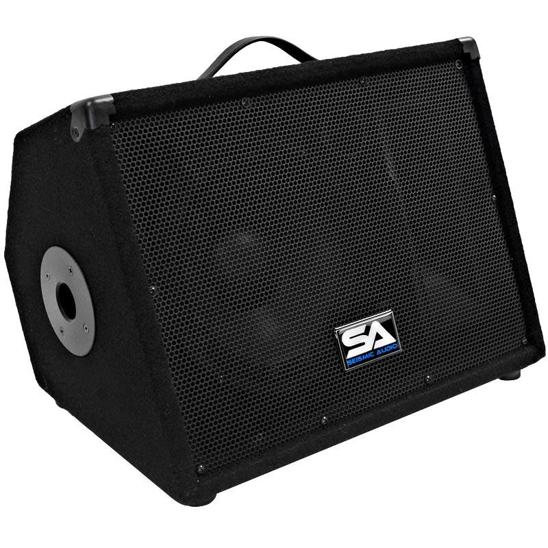Seismic Audio NEW 10 Inch FLOOR MONITORS Stage Speakers PA/DJ Church - SA-10M.3Single