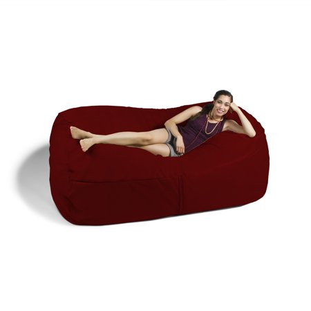 Jaxx 7 ft Giant Bean Bag Sofa, Cinnabar