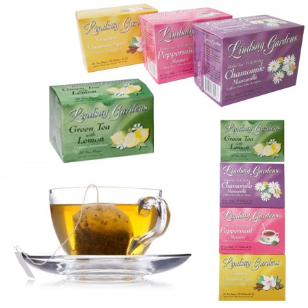 72 Set Tea Bags Sampler 100% Premium Flavor Herbal Chamomile Peppermint