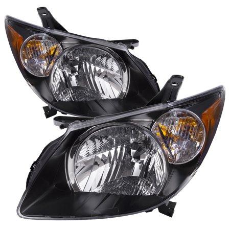 2003 2004 Pontiac Vibe New Headlights Set Halogen Driver Left Penger Right Black Housing Headlamps Pair Embly Gm2502238 Gm2503238