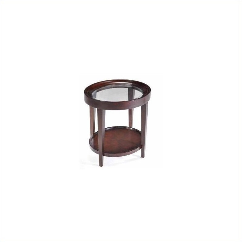 Magnussen T1632 Carson Wood Oval End Table