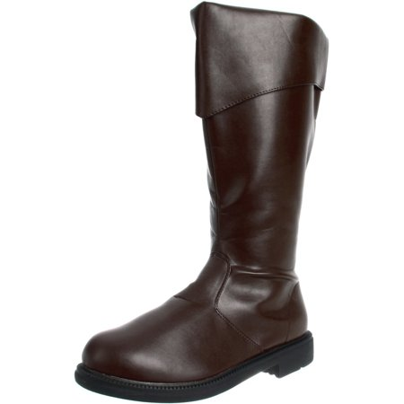 Low Heel Pirate Brown Captains Boot MENS SIZING Theatre Costumes - Mens Brown Pirate Boots