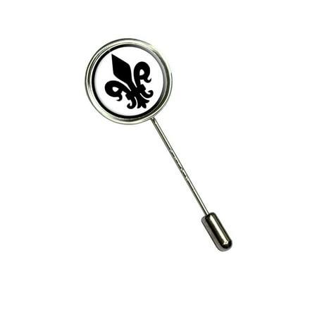 Fleur De Lis Formal - Black Stick Pin