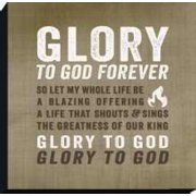 Plaque-Desktop-Glory To God Forever