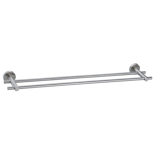 no drilling required Moon Double Wall Mounted Towel Bar
