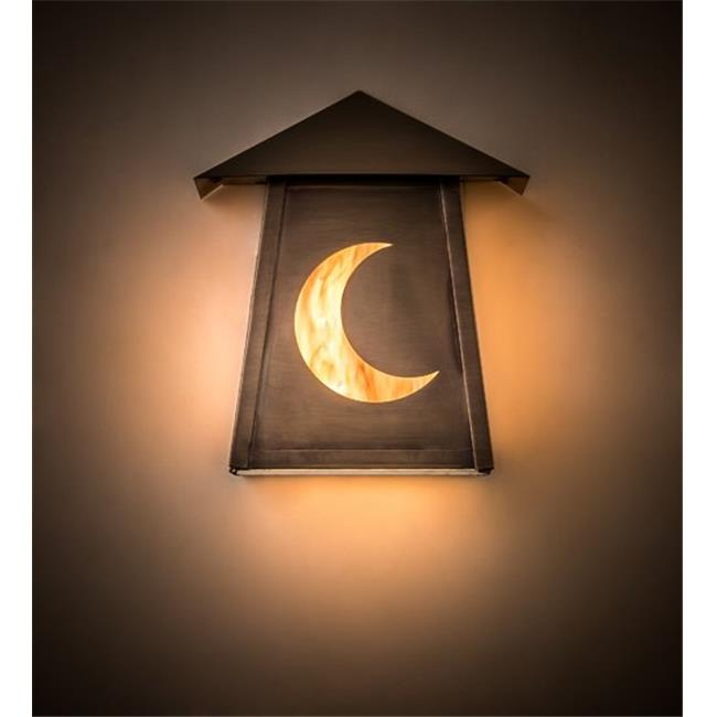Meyda 190184 9 in. Stillwater Crescent Moon Wall Sconce ...