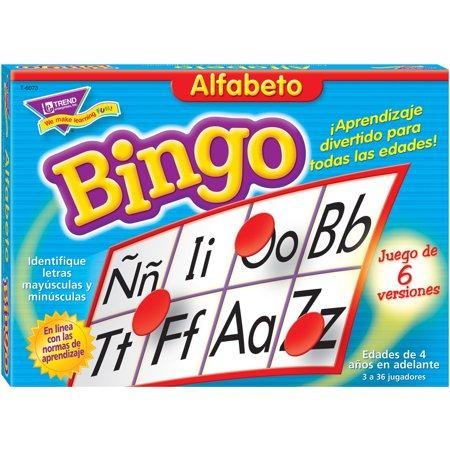 Trend, TEP6073, Alfabeto Bingo Game in Spanish, 301 Each, Multi