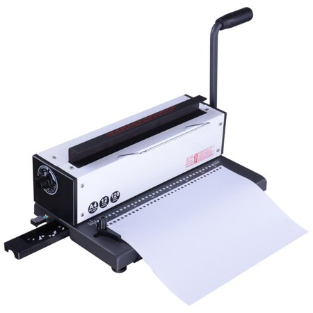 Yescom 34 Square Holes Metal Wire Punching Binding Machine Paper Binder  Puncher for Scrapbook Report Office