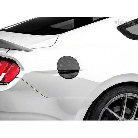 Vicrez Ford Mustang 2015-2017 Carbon Fiber Cover Fuel Tank Cap - - Carbon Fiber Top Cap