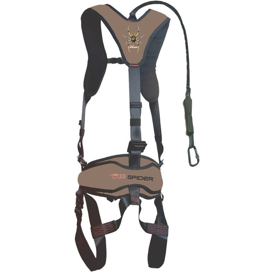 Venom Safety Treestand Climbing Harness with Carabiner and Tree Strap ScentBlocker, One Size Fits Most