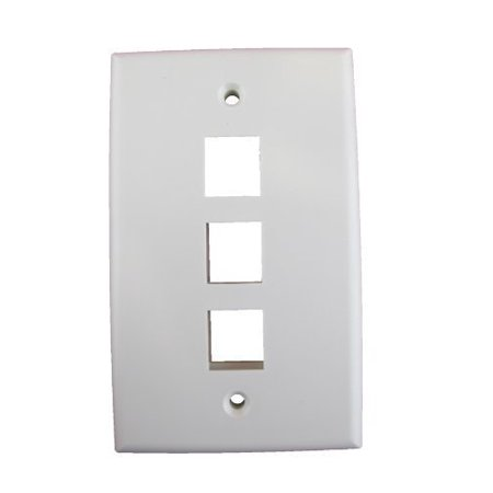 Vanco International 823841 Vanco Datacom Wallplate 3port