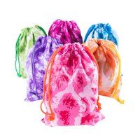 Tie-Dye Camouflage Drawstring Bags Assorted Color Party Favors (12 Pack) by Super Z Outlet