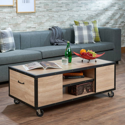 ACME Bemis Coffee Table, Weathered Light Oak