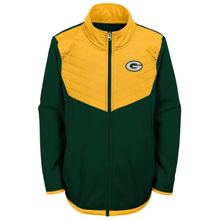 Youth Green/Gold Green Bay Packers Polar Full-Zip Jacket