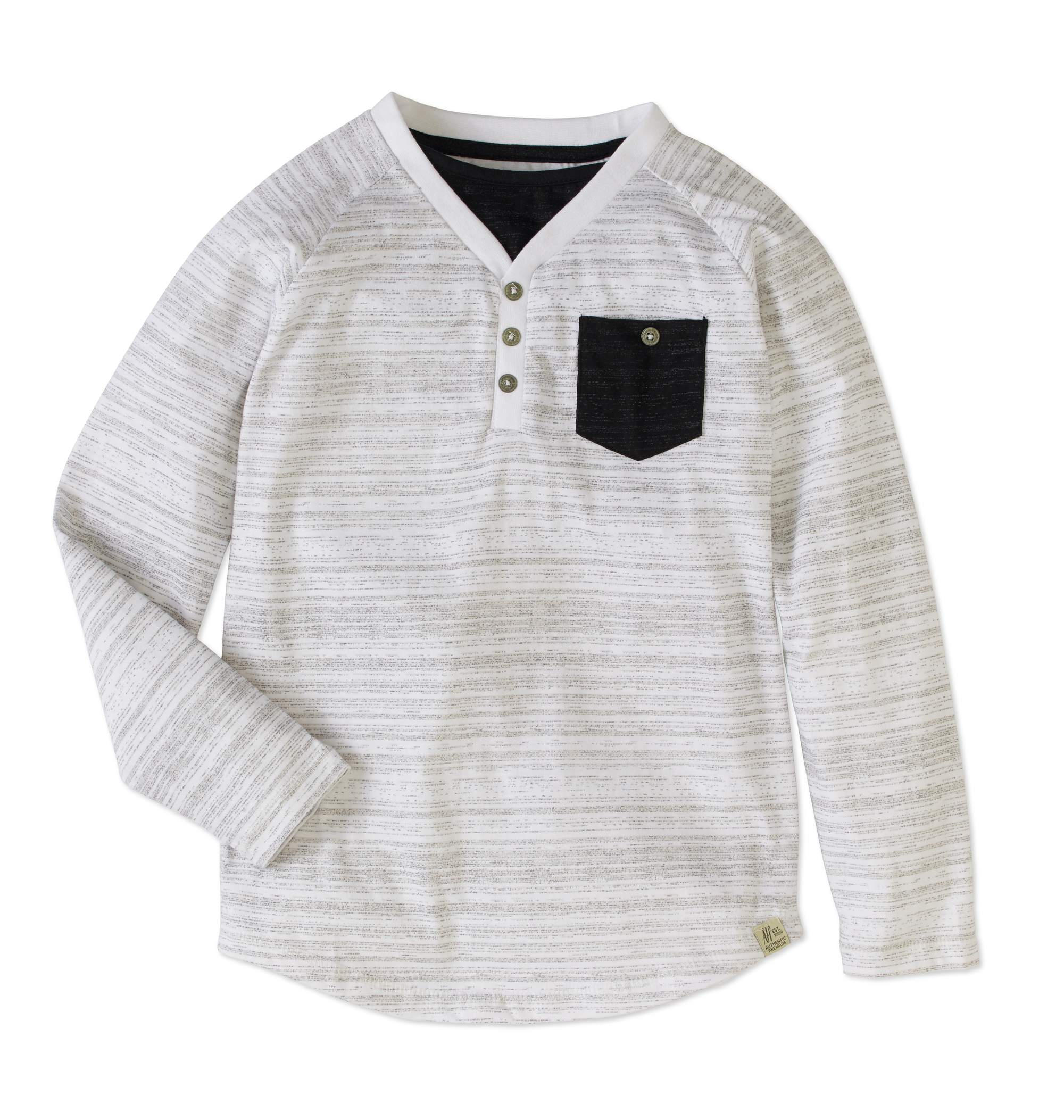 American Hawk Boys' Long Sleeve Fashion Henley